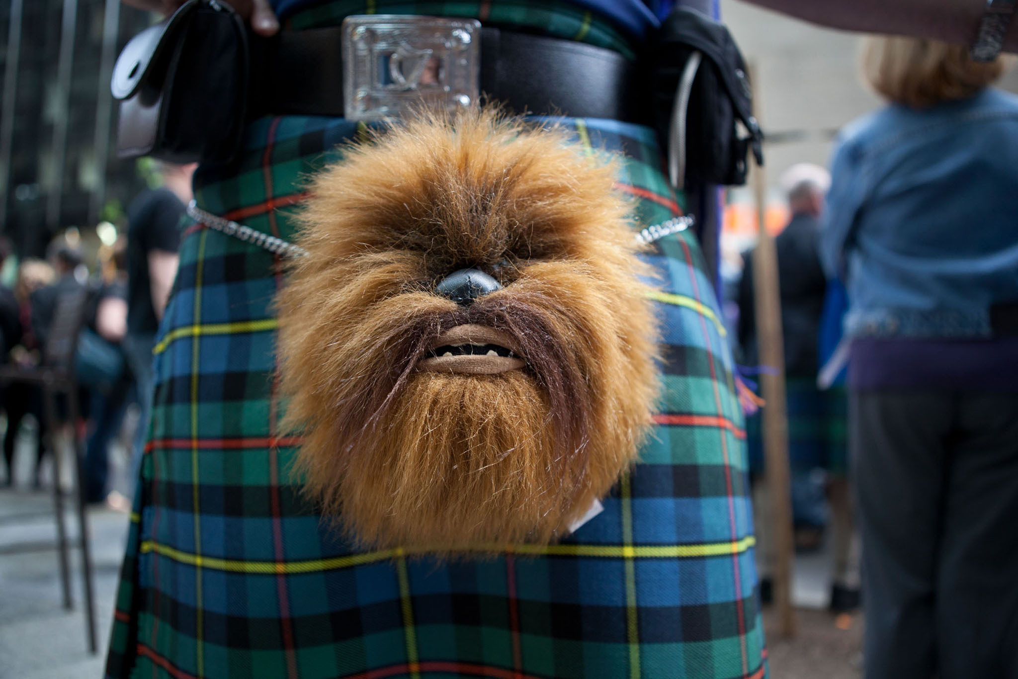 Lose the troosers for the New York Tartan Day Parade