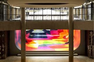 L'Agora... (...vue par Ulla Von Brandenburg / Installation présentée jusqu'au 30 décembre 2012 : Ulla Von Brandenburg, 'Death of a King' / Photo : © André Morin)