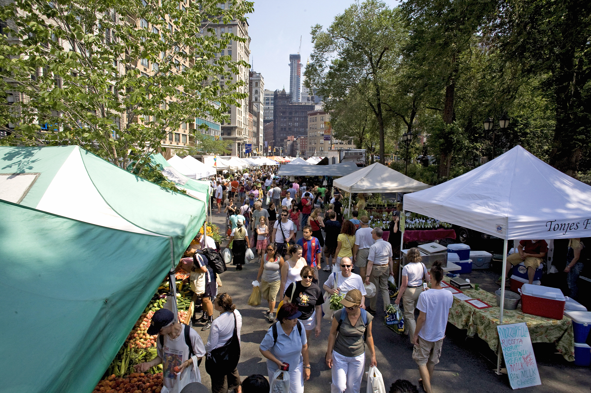 Fill up on free samples at the Union Square Greenmarket