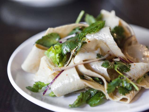 Tofu ribbon salad at Yunnan Kitchen