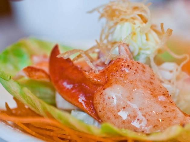 Snack on taro-and-turnip cakes at Golden Unicorn Restaurant