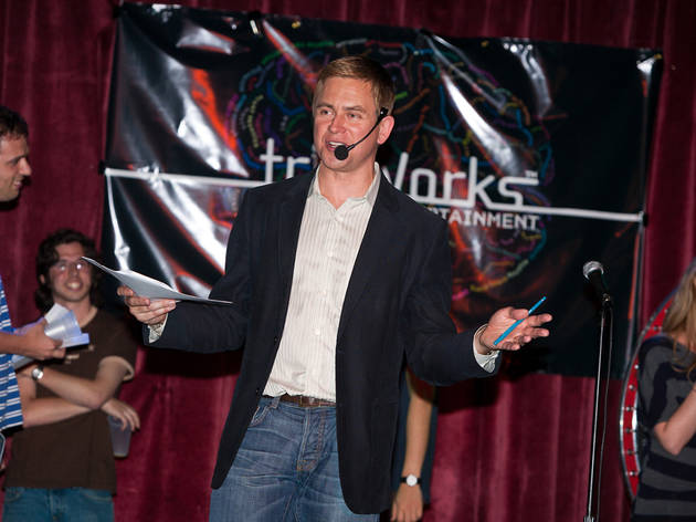 Pat Kiernan at TrivWorks' Ultimate 90s Pop Culture Trivia Night