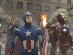 From left: Scarlett Johansson, Chris Hemsworth, Chris Evans, Jeremy Renner, Robert Downey Jr., and Mark Ruffalo in The Avengers
