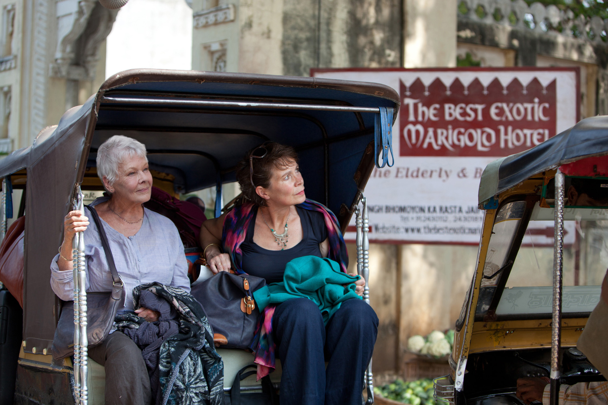 Dame Judi Dench, left, and Celia Imrie in The Best Exotic Marigold Hotel
