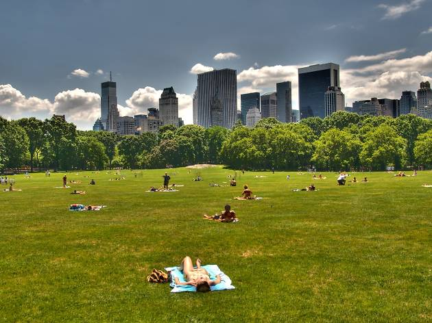 People watch in Sheep Meadow
