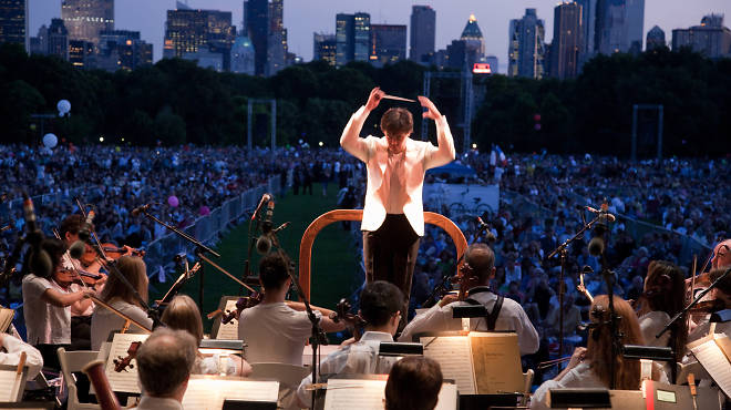 Alan Gilbert conducts the New York Philharmonic in Central Park