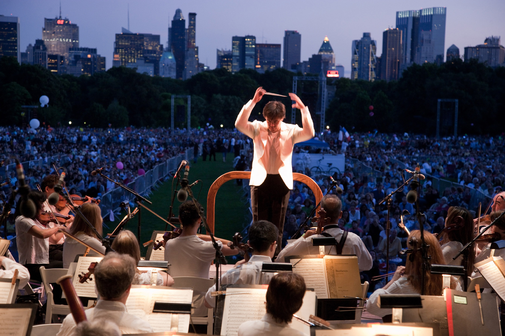 Lie on the grass and listen to the NY Phil