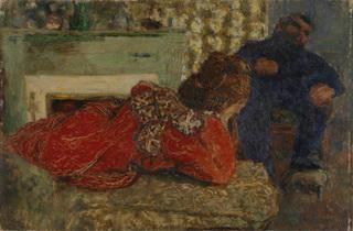 (Édouard Vuillard, 'Le Peignoir rouge (Misia)', 1898 / Collection particulière / © Droits réservés)