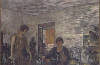 (Édouard Vuillard, 'Misia Sert et sa nièce Mimi Godebska', 'Les Tasses noires', 1925 / Collection Neffe-Degandt Ltd / © Droits réservés)