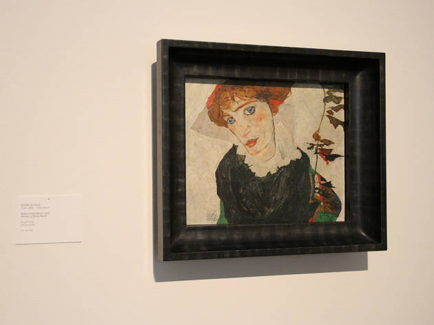 Egon Schiele's painting in Portrait of Wally