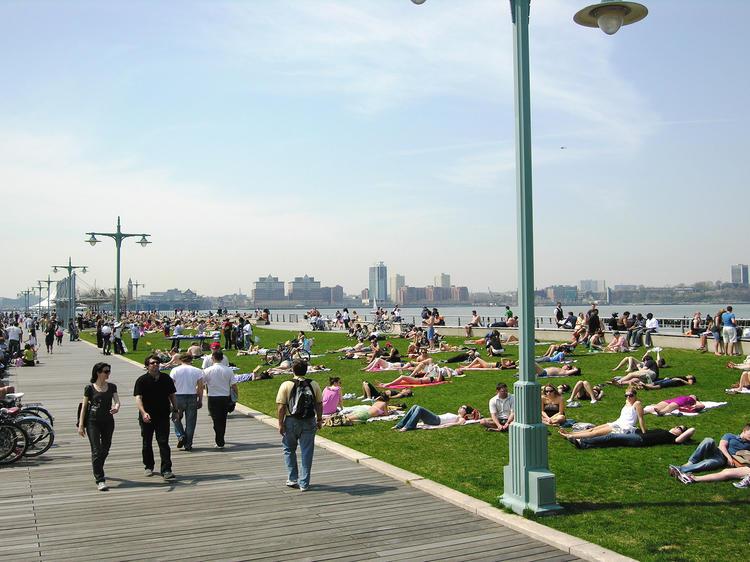 Enjoy the views at Hudson River Park