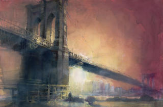 """New York's Golden Age of Bridges: Paintings by Antonio Masi"""