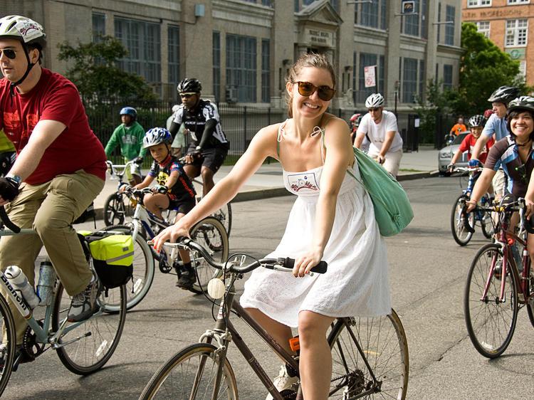 Biking in New York