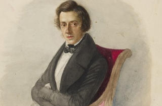 Portrait of Fréderic Chopin by Maria Wodzinska