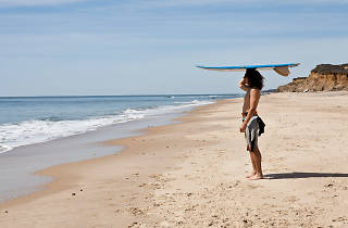 Surfer on a Montauk beach