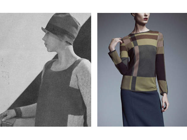 (Photograph: Left: Elsa Schiaparelli, Vogue Paris, February 1927; Right: Miuccia Prada, spring/summer 1999)
