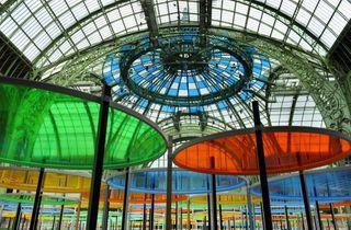 (Daniel Buren, 'Excentrique(s), travail in situ', 2012 (détail) / © Monumenta 2012 – Daniel Buren, Paris)