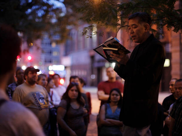 Prove you can hold your liquor and hold forth during Lit Crawl NYC