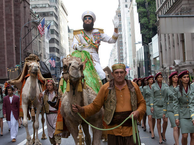 Sacha Baron Cohen, center, in The Dictator