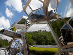 """Tomás Saraceno on the Roof: Cloud City"" Installation View"