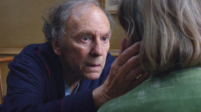 Jean-Louis Trintignant and Emmanuelle Riva in Love