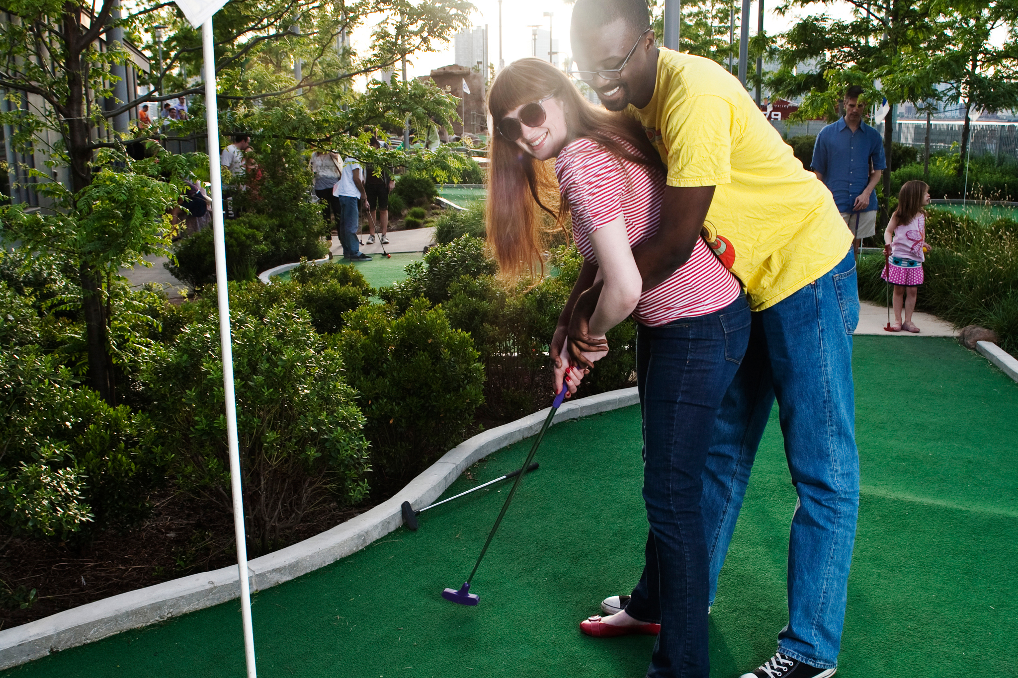 Play miniature golf on Pier 25