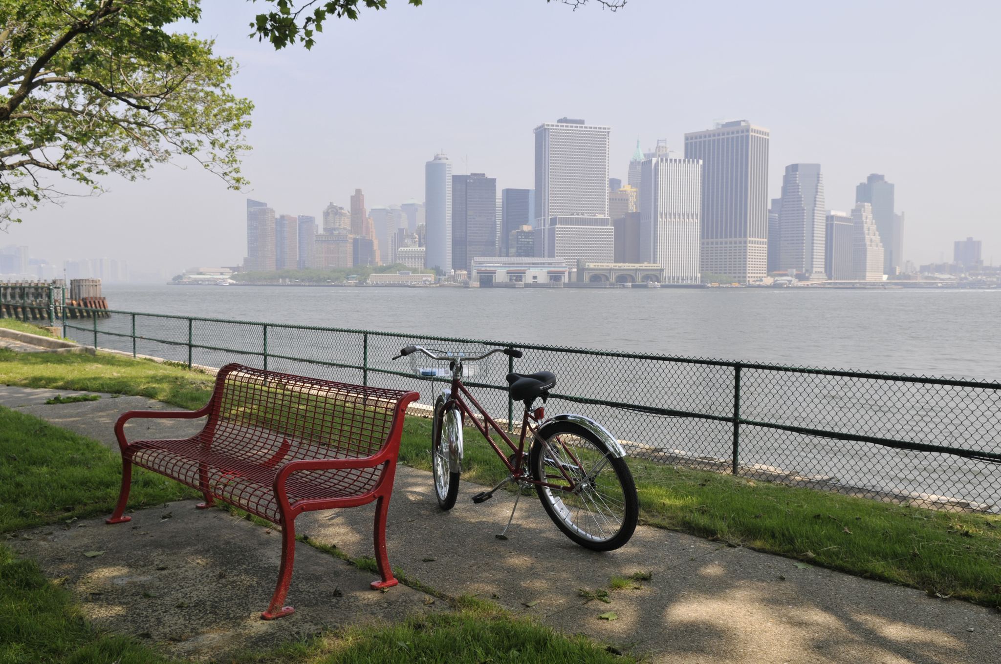 Bike on Governors Island