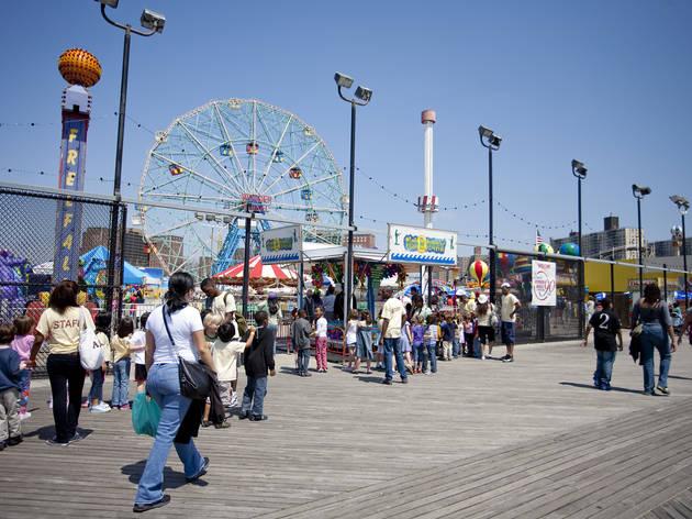 Coney Island Boardwalk Restaurants Brooklyn