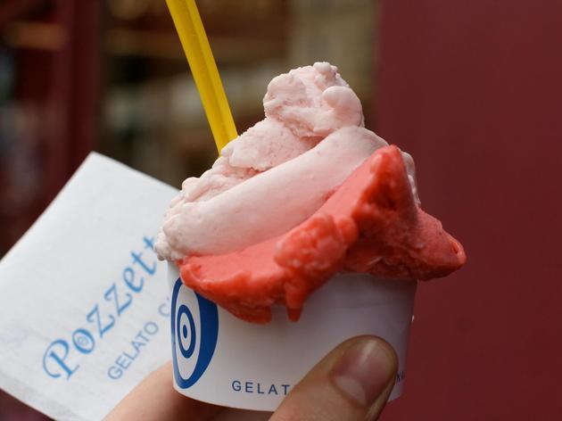 Sorbet fraise chez Pozzetto