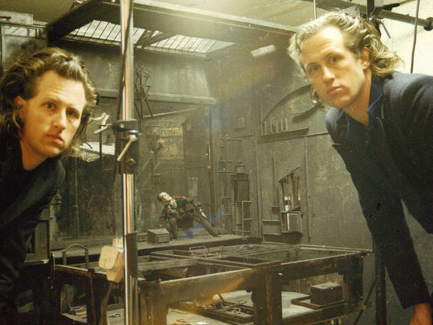 The Quay Brothers on the set of The Street of Crocodiles, 1986.