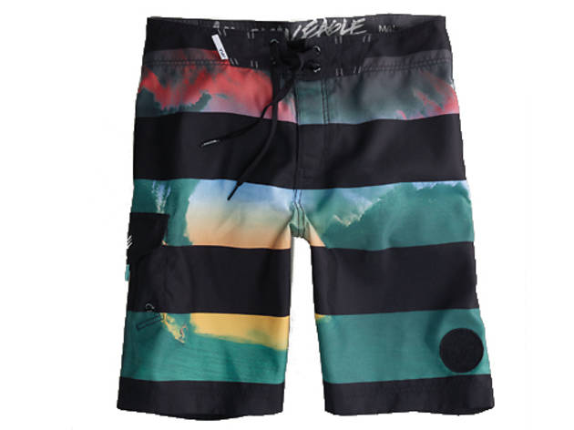 eb0dd4a414d66 1/50 American Eagle Outfitters striped wave board shorts, $40, at American  Eagle Outfitters, locations throughout the city; visit ae.com