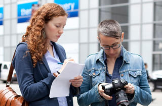 From left: Kate Lowenstein, Allison Michael Orenstein