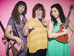 Jessica Delfino, Carolyn Castiglia and Jen Kwok of the NY Funny Songs Festival