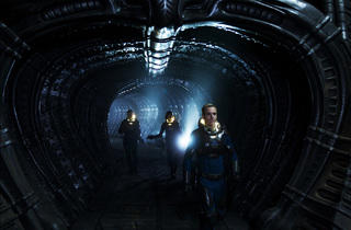 Michael Fassbender, far right, in Prometheus