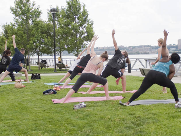 Do yoga alfresco for free