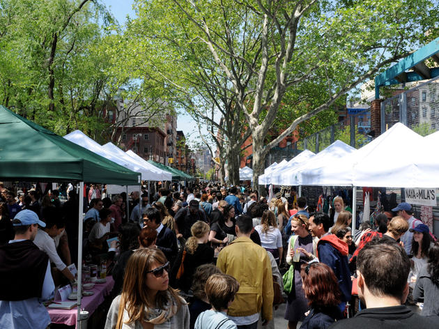 Shop and eat outside at the Hester Street Fair