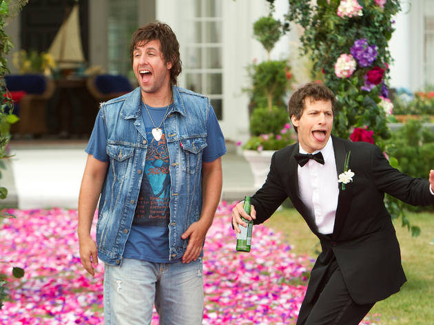Adam Sandler, left, and Andy Samberg in That's My Boy