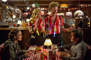 From left, Keira Knightley, Gillian Jacobs, T.J. Miller and Steve Carell in Seeking a Friend for the End of the World