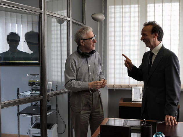 Woody Allen, left, and Roberto Benigni in To Rome with Love