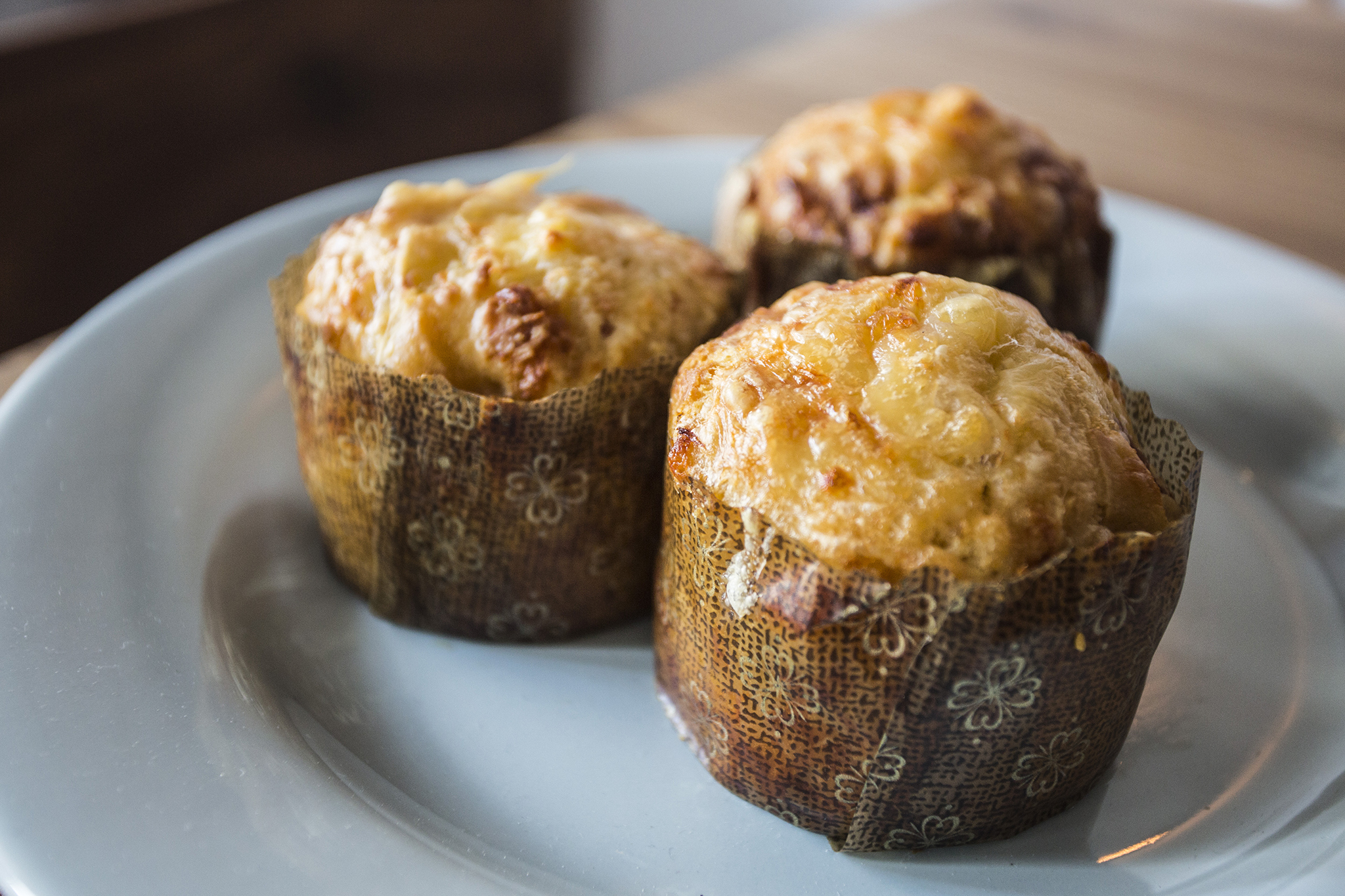 Ham-and-Gruyère muffin at Hungry Ghost