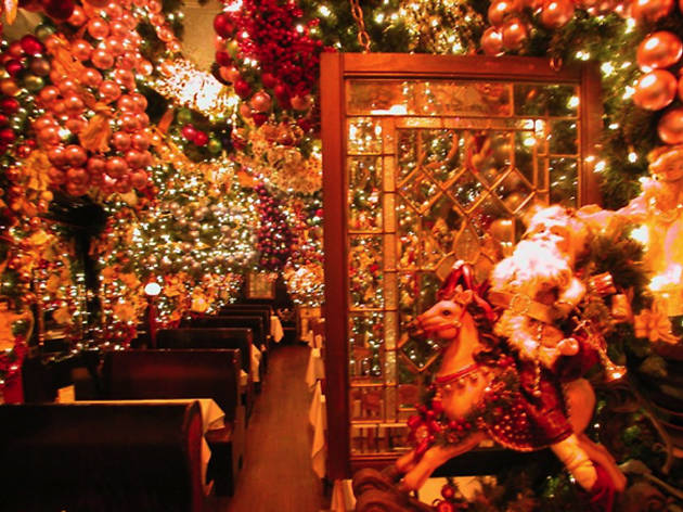 heres your yearly reminder to go to rolfs the restaurant that looks like christmas threw up on it - Over The Top Christmas Decorations