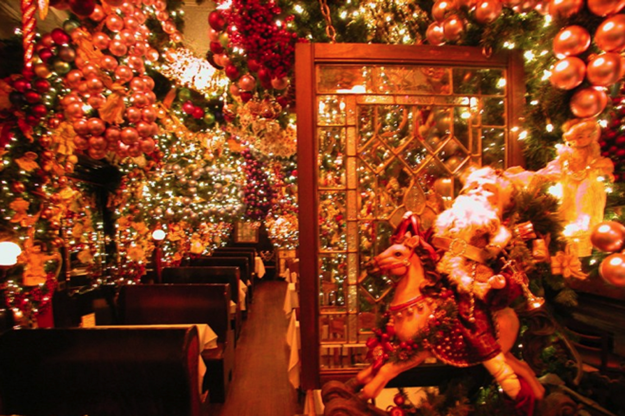 Here's your yearly reminder to go to Rolf's, the restaurant that looks like Christmas threw up on it