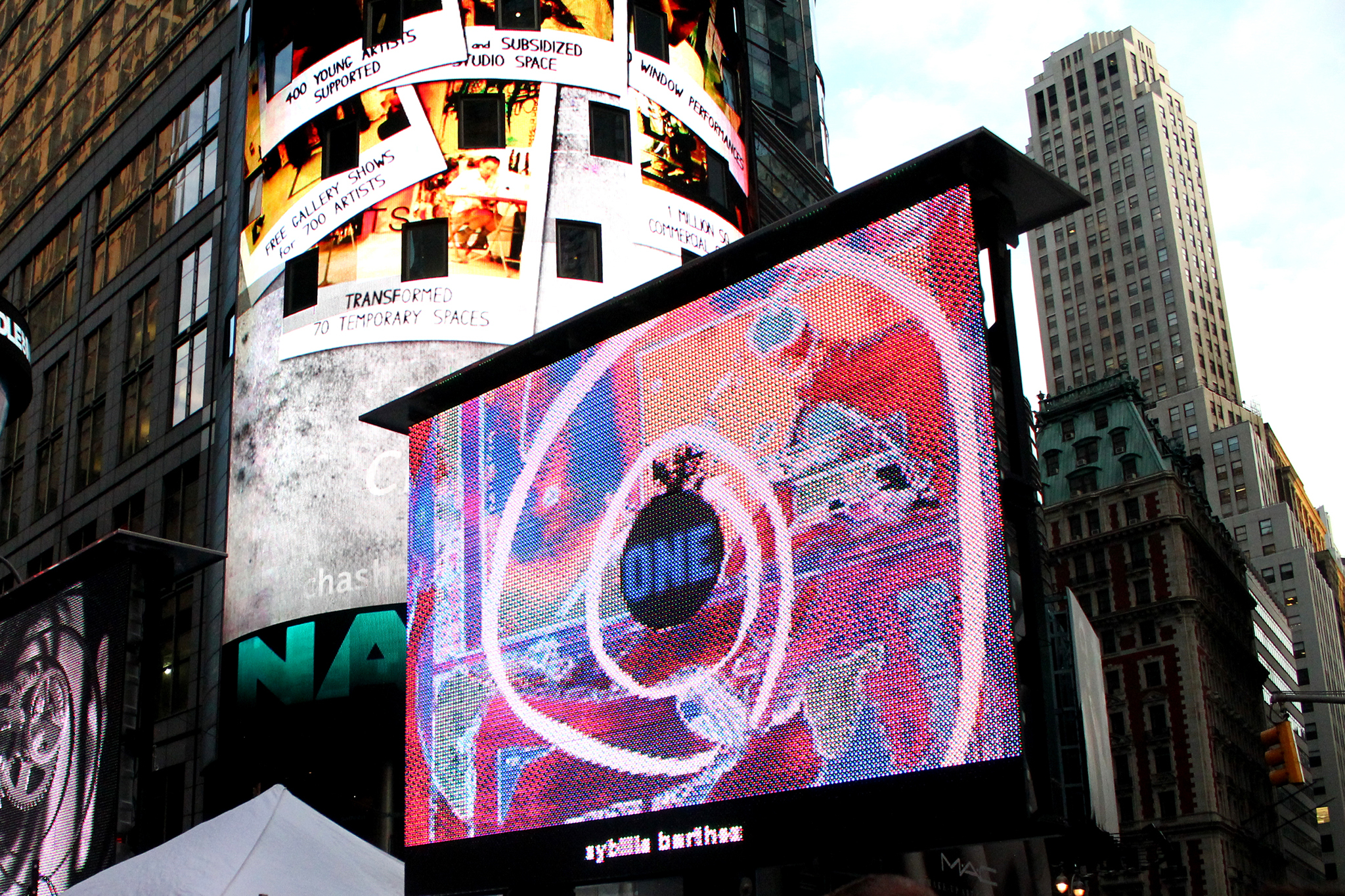 Art Takes Times Square by Chashama and Artists Wanted