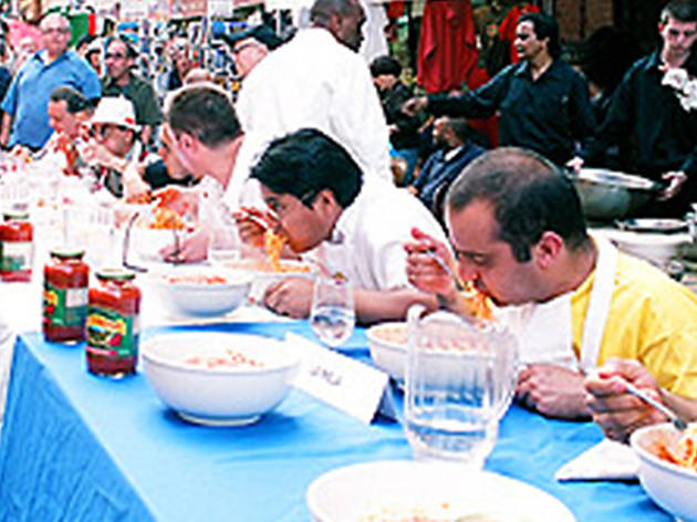 Pasta Eating Competition
