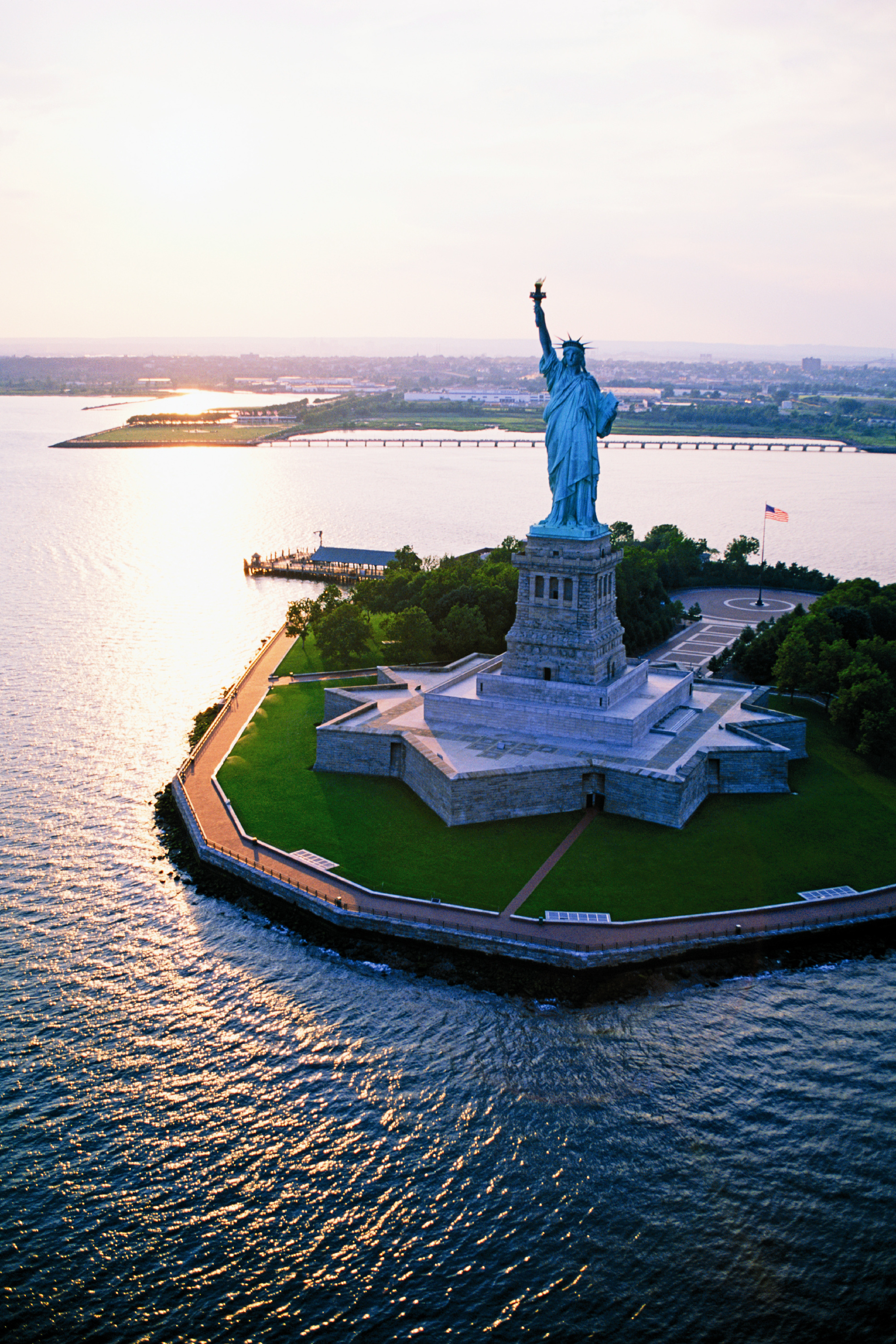 Rooftop Lunch, Manhattan Tour and Statue of Liberty Fireworks Cruise