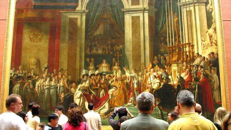 French painting (Denon: 1st floor; Richelieu: 2nd floor; Sully: 2nd floor. Red on Louvre maps.)