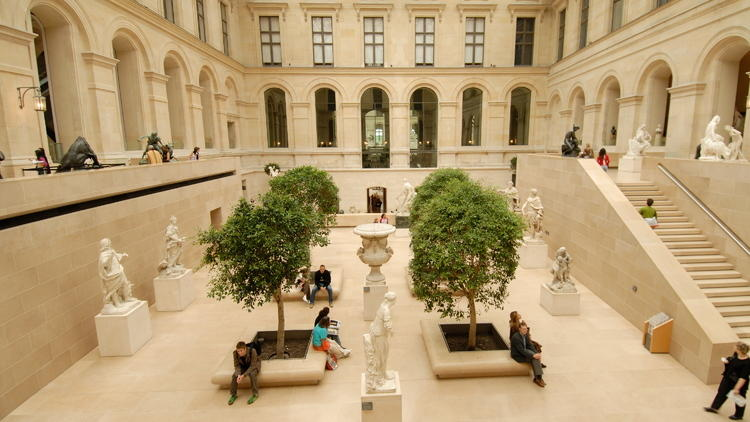 French sculpture (Richelieu: lower ground & ground floors. Light brown on Louvre maps.)