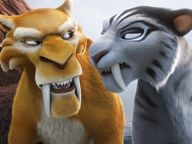 Denis Leary and Jennifer Lopez voice some lovelorn sabretooth tigers in Ice Age: Continental Drift