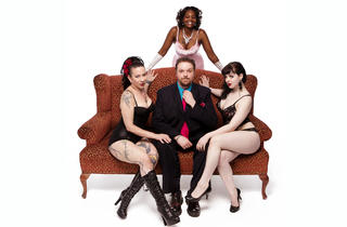 Neil O'Fortune with Fifi Dupree, Ginger Brown and Bunny Buxom