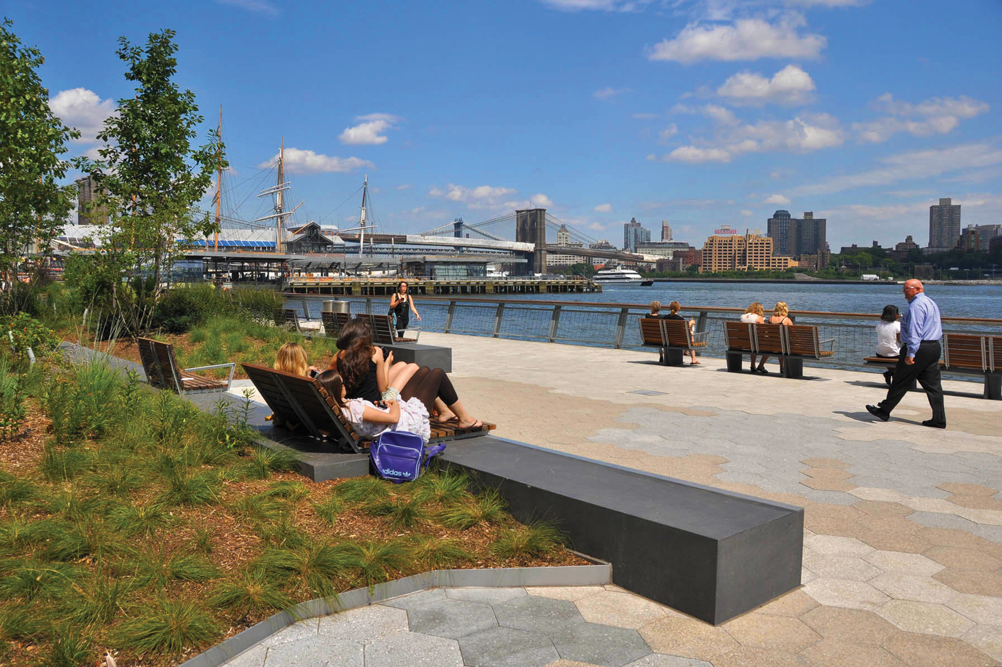Walking tours along New York City's waterfront